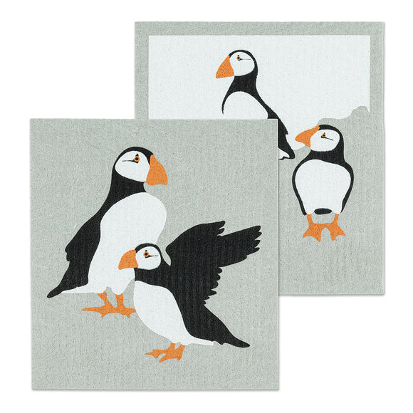 Puffin Dish Cloths Set Of 2