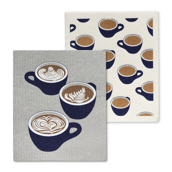 Coffee Cups  Dish Cloths. Set of 2