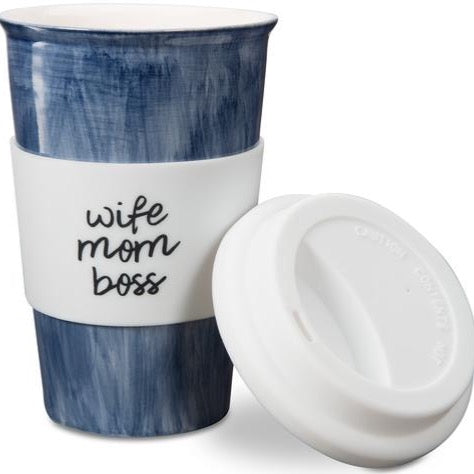 Wife Boss Mom Travel Mug - Flamingo Boutique