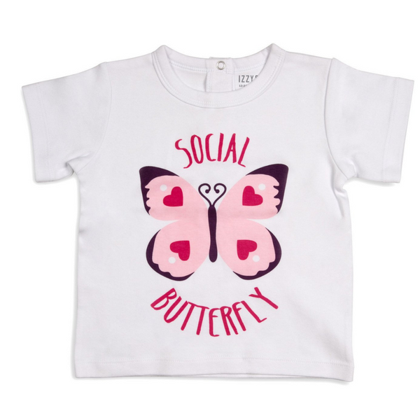 Butterfly Hearts Baby T-Shirt - Flamingo Boutique