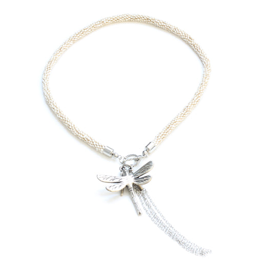 Short Dragonfly Necklace - Flamingo Boutique