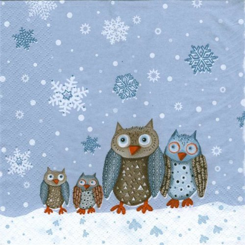 Owls in the Snow Napkins