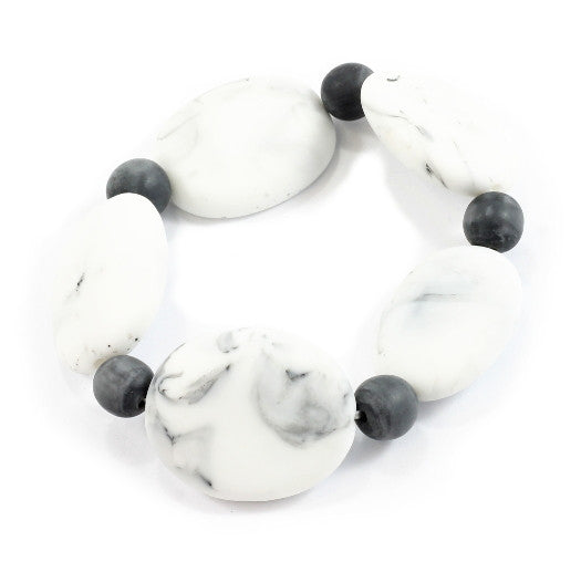 Stone Grey Resin Pebble Bracelet