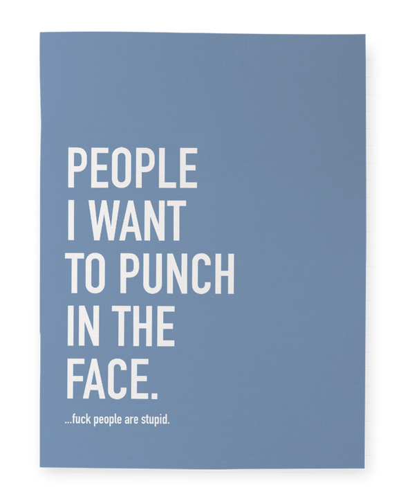 People I Want To Punch - Notebook - Flamingo Boutique