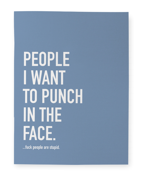 People I Want To Punch - Notebook