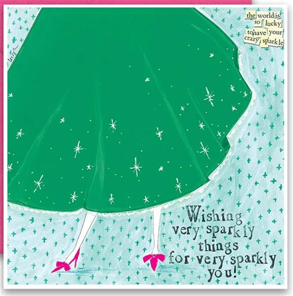 Wishing Very Sparkly Things For Very Sparkly You Card - Flamingo Boutique