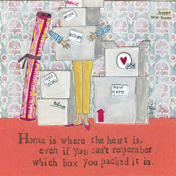 Home Is Where The Heart Is Card - Flamingo Boutique