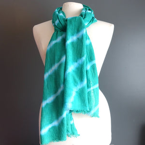 Green Tie Dye Scarf - Flamingo Boutique