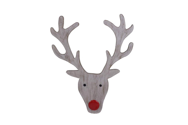 Wooden Reindeer Plaque