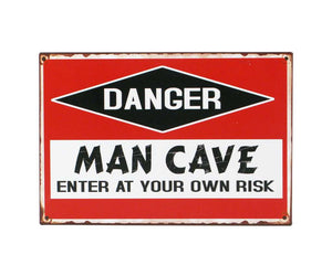 Danger Man Cave Sign - Flamingo Boutique