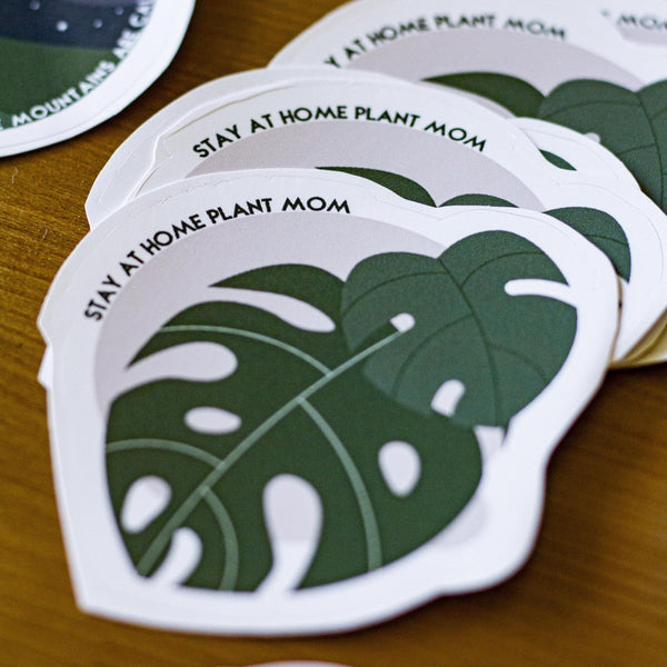 Stay At Home Plant Mom Sticker