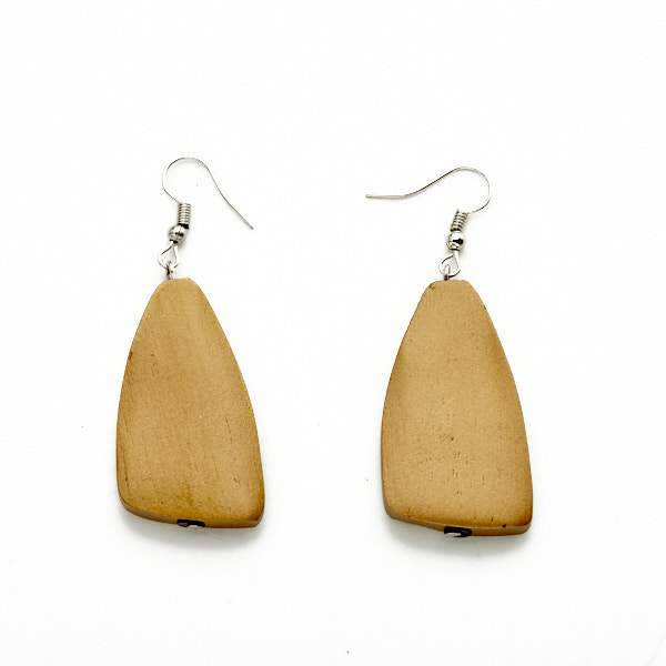 Long Shape Wooden Earring - Flamingo Boutique