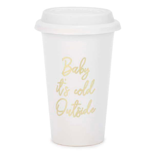 Baby It's Cold Outside  Travel Mug - Flamingo Boutique
