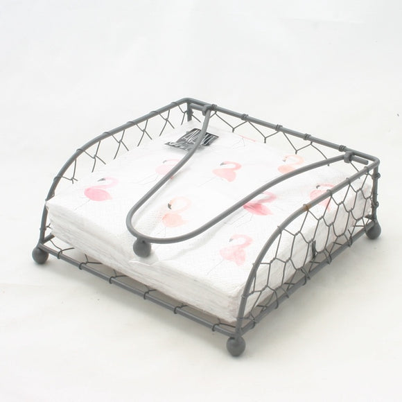 Metal Napkin Holder - Flamingo Boutique