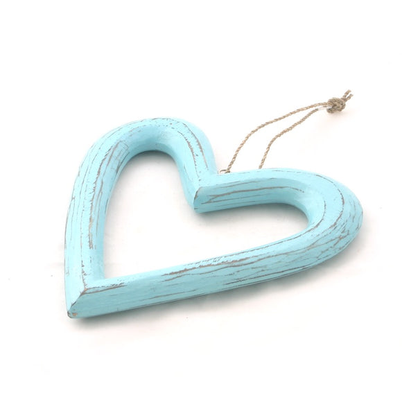 Hanging Open Wooden Heart - Flamingo Boutique