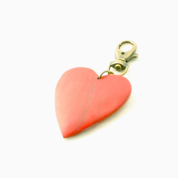 Wooden Heart Keyring - Flamingo Boutique