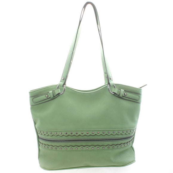 Green Handbag - Flamingo Boutique