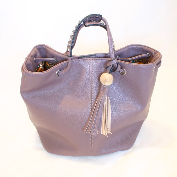 Purple Handbag with Tassel