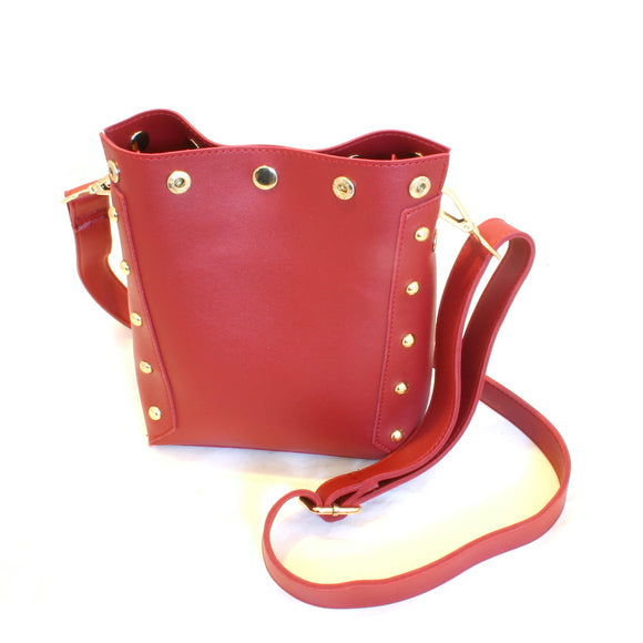 Cherry Red Studded Handbag