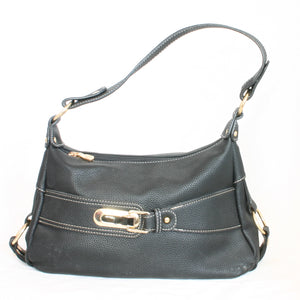 Black Handbag With Buckle - Flamingo Boutique