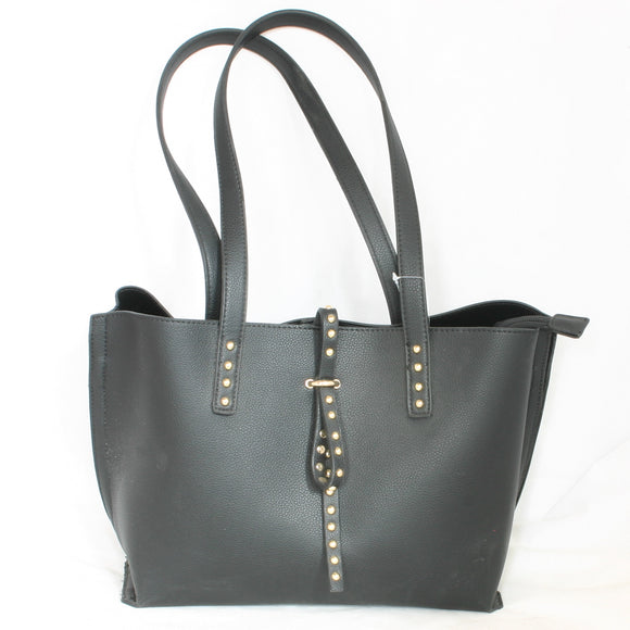 Black Handbag With Stud Detail