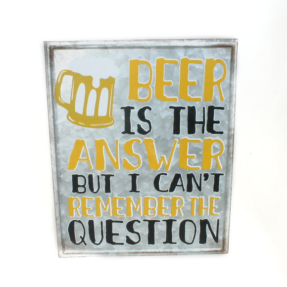 Beer Is The Answer Sign - Flamingo Boutique