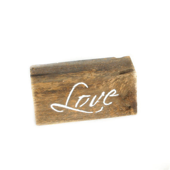 Love Wooden Plank Sign - Flamingo Boutique