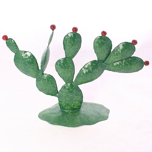 Medium Metal Cactus - Flamingo Boutique