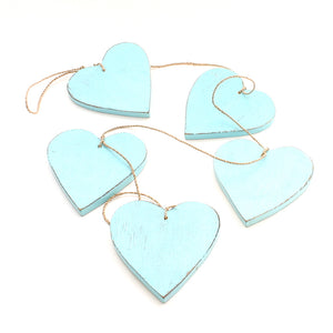 Hanging Wooden Hearts - Flamingo Boutique