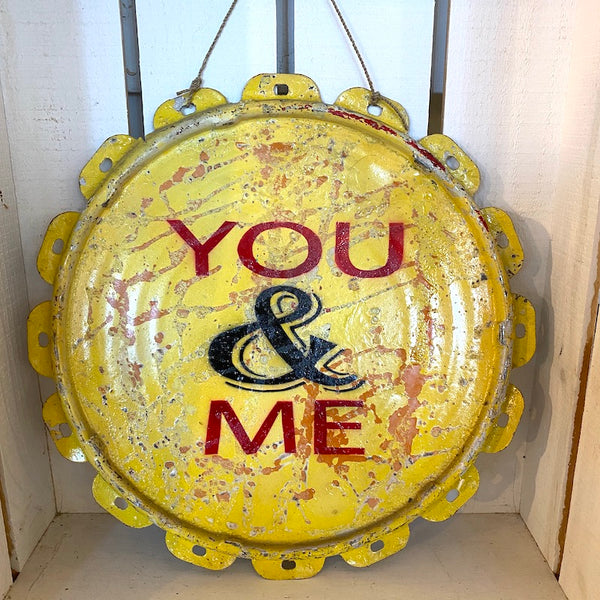 You & Me Tin Sign - Flamingo Boutique