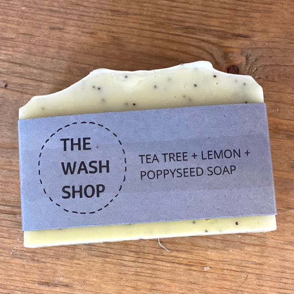 Tea Tree, Lemon & Poppyseed Soap - Flamingo Boutique