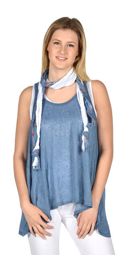 Tank Top With Scarf