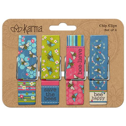 Bee Chip Clips - Set Of 4 - Flamingo Boutique