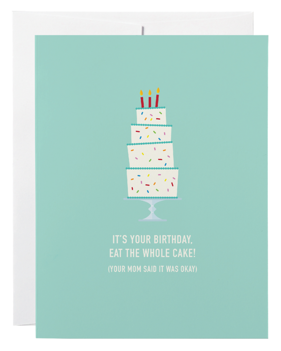 Eat The Whole Cake Card - Flamingo Boutique