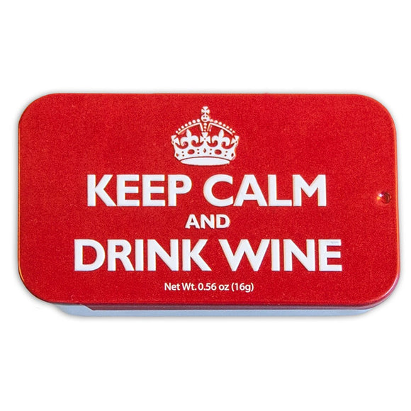 'Keep Calm And Drink Wine' Mint Box