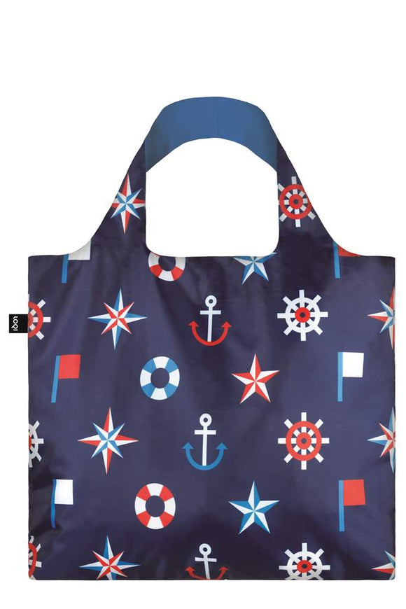 Loqi Nautical Foldable Tote Bag - Flamingo Boutique