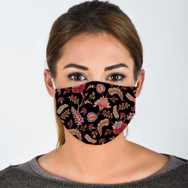 Paisley Print Face Mask - Flamingo Boutique