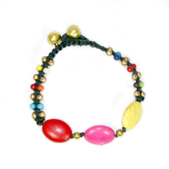 Stone Bead Bracelet - Flamingo Boutique
