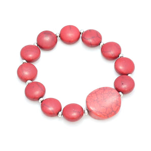 Stone Disc Bracelet - Flamingo Boutique