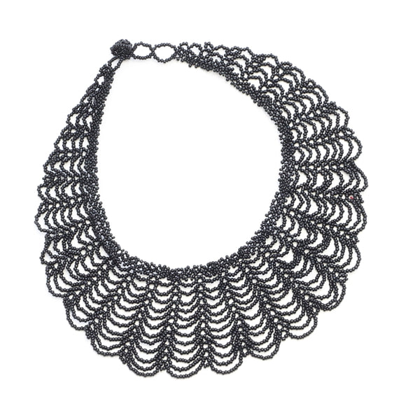 Lace Beaded Collar - Flamingo Boutique