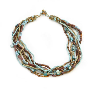 Multi Beaded Short Necklace
