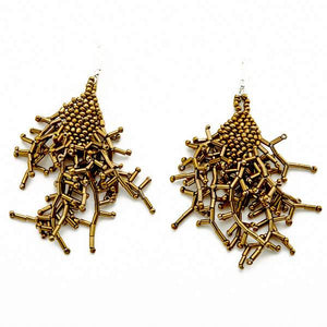 Spikey Beaded Earring - Flamingo Boutique