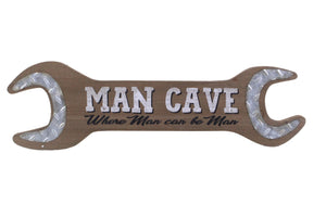 Man Cave Wrench Sign - Flamingo Boutique