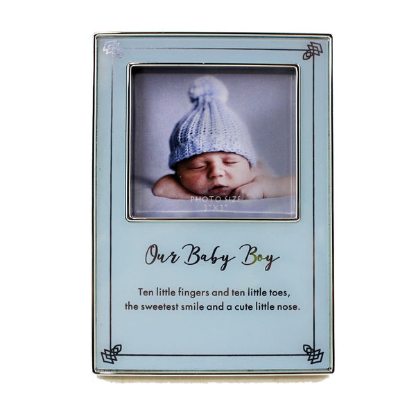 'Our Baby Boy' Frame - Flamingo Boutique