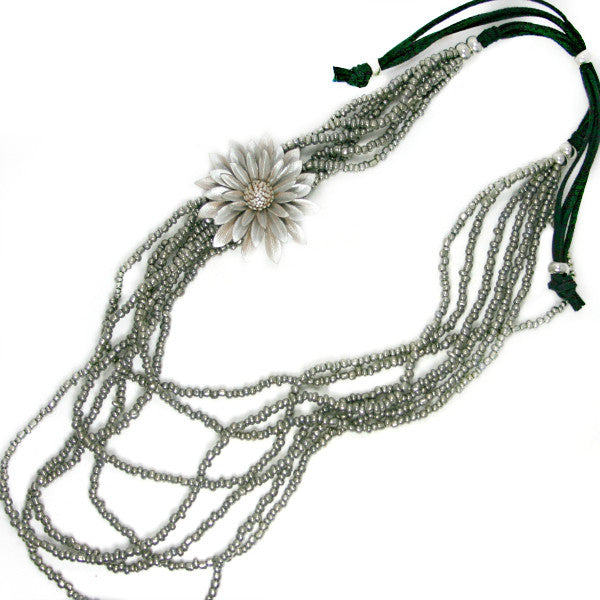 Multi Strand Flower Necklace