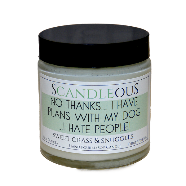 Plans With My Dog Soy Candle - Flamingo Boutique