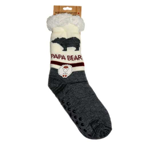 Papa Bear Slipper Socks - Flamingo Boutique
