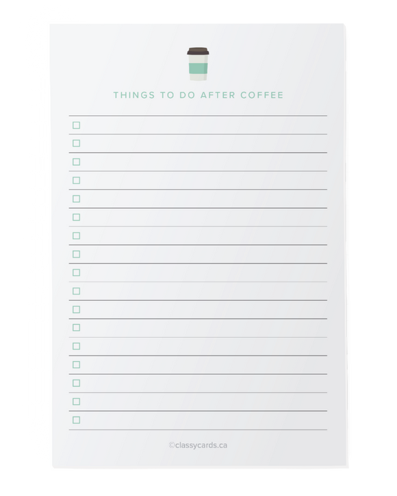 Things To Do After Coffee -  Notepad - Flamingo Boutique