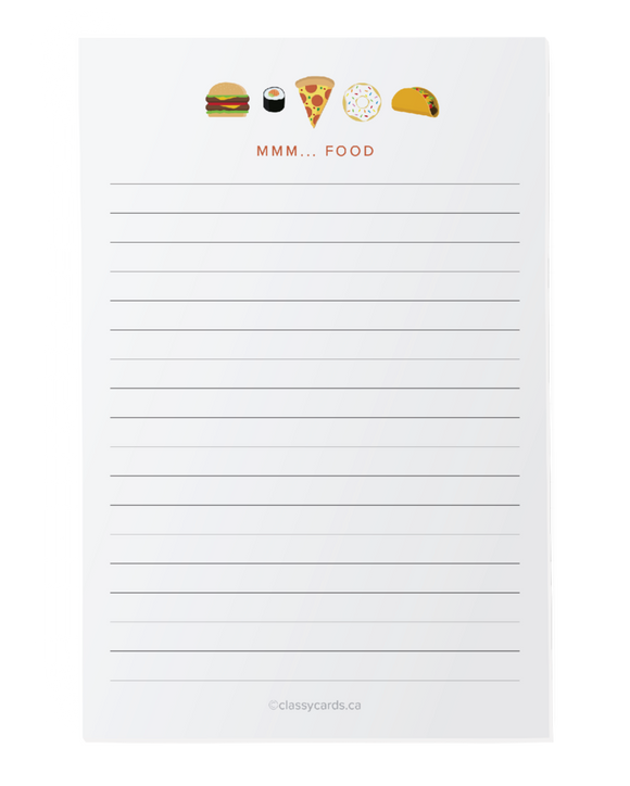 Mmmm Food -  Notepad - Flamingo Boutique