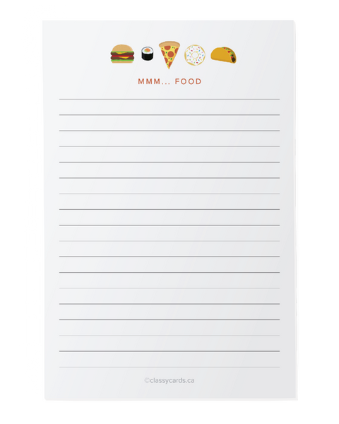 Mmmm Food -  Notepad